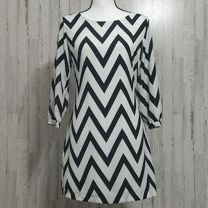 My Michelle Black and White Junior's Dress